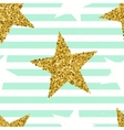 Trendy stars color seamless pattern vector image