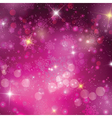 Pink Christmas background vector image