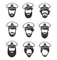 ship captains set vector image