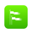 ancient battle flags icon digital green vector image