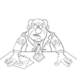 Angry boss vector image vector image
