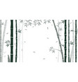bamboo forest background for wallpaper vector image vector image