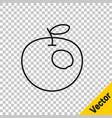 black line genetically modified apple icon vector image vector image