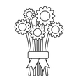 Bouquet of flowers icon outline style vector image