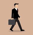 Business Man Walking vector image