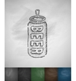 canned beer icon vector image vector image