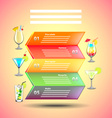 Cocktails infographics on colorful background vector image vector image
