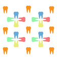 Colorful teeth pattern vector image