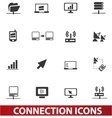 connection icons set vector image