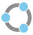 cooperation mosaic of small circles vector image