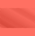 coral trendy color background with diagonal vector image