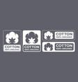 cotton 100 organic natural fabric logo
