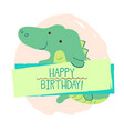 crocodile element card vector image