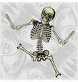 dancing skeletonhand drawing vector image vector image