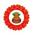 diwaly houseplant in ceramic pot decoration icon vector image vector image