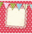 Doily and bunting background vector image vector image
