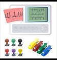 electrocardiography ecg or ekg machine recording vector image