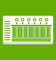 electronic synth icon green vector image vector image