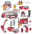 First Responders Art vector image vector image