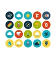 Flat icons set 23 vector image