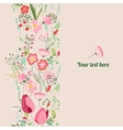 Floral spring template For romantic design vector image