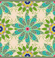 flowers on neutral green and blue colors colour vector image vector image