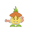 Garlic-Caricature-380x400 vector image