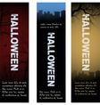 halloween tombstone banners vector image vector image