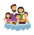 happy family celebrating holiday concept cartoon vector image vector image