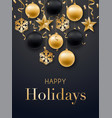happy new year 2019 card design realistic vector image vector image