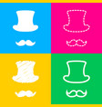 hipster accessories design four styles of icon on vector image vector image