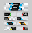 horizontal black web banner templates with vector image vector image