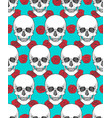 human skull tribal style seamless pattern vector image vector image