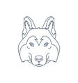Husky or wolf head icon Flat line vector image vector image