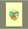 in love dog with a rose in his mouth on a vector image vector image