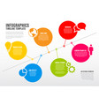 infographic timeline schema template vector image vector image