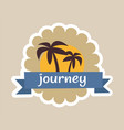 journey cute colorful poster vector image vector image