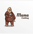 logo mama chocking simple mascot style vector image vector image