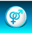 Male and female signs isolated on white background vector image