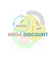 Mega Discount Discount sticker Offer sticker vector image vector image