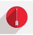 modern arrow bow red circle icon vector image vector image