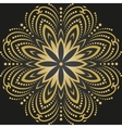 Oriental Abstract Golden Round Pattern vector image