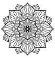 oriental abstract mandala vector image vector image