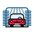passenger car at automatic car wash station vector image