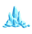 pieces and crystals ice icebergs for design vector image vector image