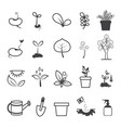 planting and plating tool icons vector image