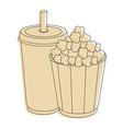 popcorn soda cup vector image