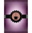 Purple coffee house desing vector image vector image