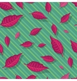 Red Leaves Seamless Pattern vector image vector image