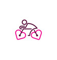 romance bike logo icon design vector image vector image